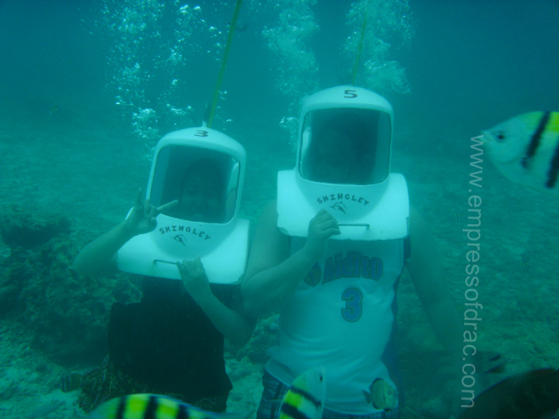 Helmet Diving in Boracay 2013