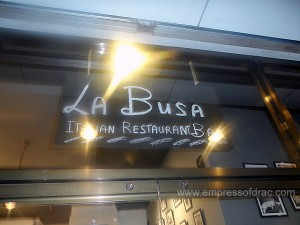 La Busa Italian Restaurant Cebu - Namesign