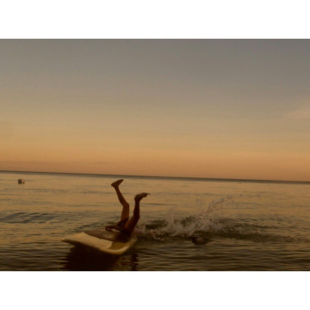 When non-surf boarding fails. First epic photo for #2015. #beach #travel #sunset #sea #feetup