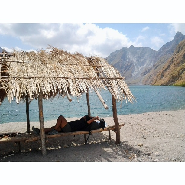 A once in a lifetime experience. Chilling beside Mount Pinatubo's crater. #mountpinatubo #volcano #crater #river #sky #mountain #nature