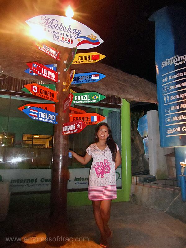 Country Crossing Sign - Boracay Island 2013