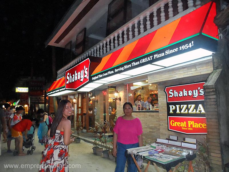 Shakeys - Boracay Island 2013