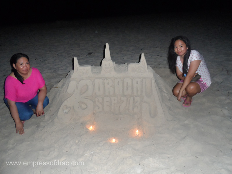With Mama - Boracay Island 2013