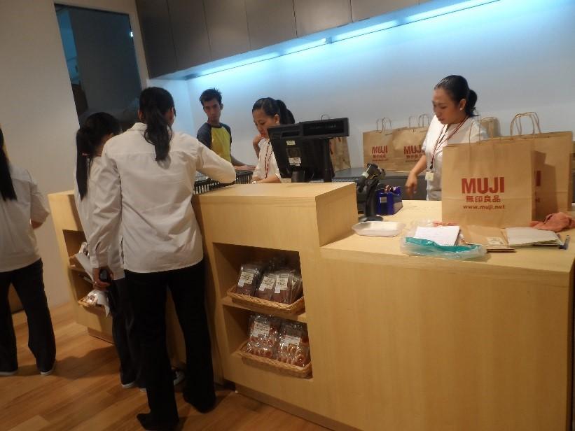 MUJI Store Cebu Philippines - Counter