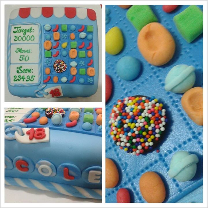 Project Happiness Bakehouse Candy Crush Fondant Cake